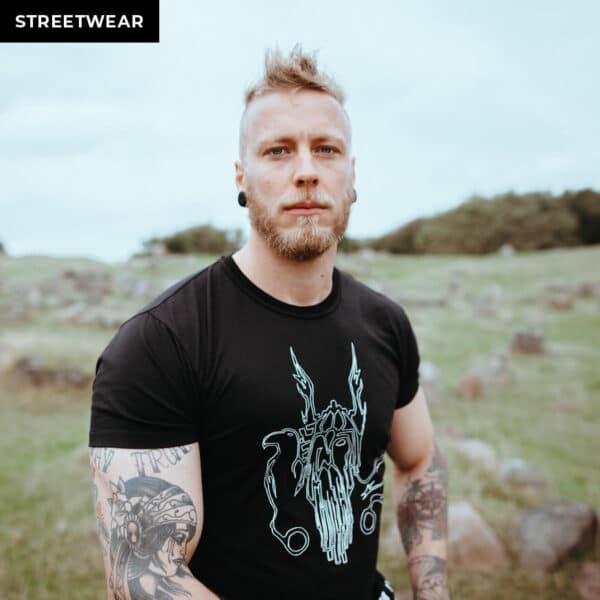 shop king odin t shirt the allfather of thor and loki norse viking fitness apparel for men and women with graphic of odin
