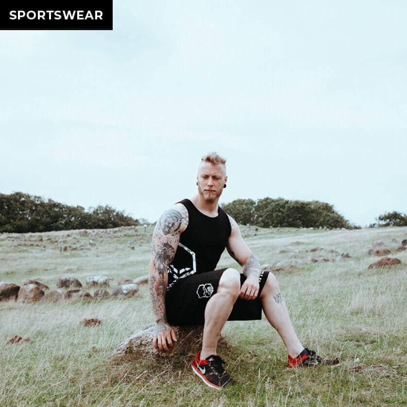 einherjar modern viking fitness shorts